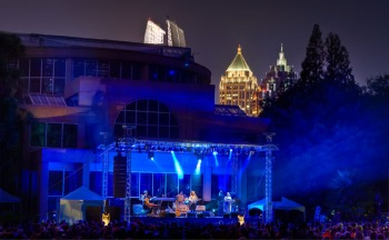 Concerts in the Garden - My Midtown view!